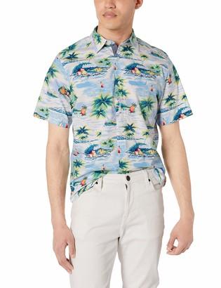 Nautica Men's Classic Fit Short Sleeve Sail Print Button Down Shirt
