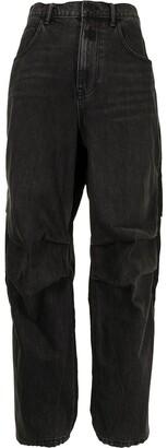 Alexander Wang Pack Mix Hybrid high-waisted straight jeans