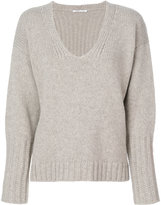 Agnona fur trim sweater - women - Mink Fur/Cashmere/Wool - S
