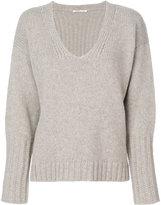 Agnona fur trim sweater