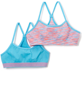 Pink Cookie Pink & Turquoise Strata Sports Bra Set