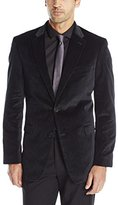Tommy Hilfiger Men's Paisley Trim Fit Sport Coat, Dark Grey