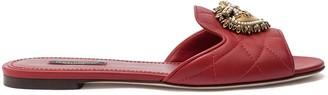 Dolce & Gabbana Devotion matelasse slide sandals