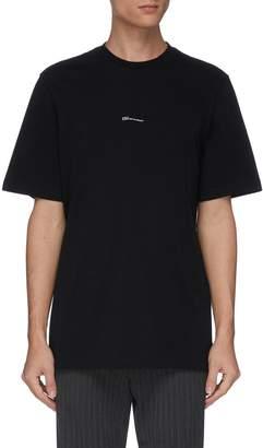 Oamc 'Hi How Are You?' slogan print T-shirt