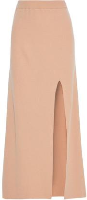 Nanushka Paak Split-front Ribbed-knit Maxi Skirt