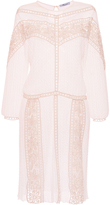 Blumarine Long Sleeve Knit Dress with Lace Details