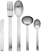 Ricci Brushed Silver Rapallo Satin 5-Piece Hostess Flatware Set