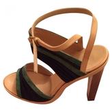 Balenciaga Green Leather Heels