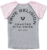True Religion Big Girls 7-16 Raglan-Sleeve Glitter-Accented Tee