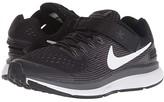 Nike FlyEase Zoom Pegasus 34 (Little Kid/Big Kid) (Black/White/Dark Grey/Anthracite) Boys Shoes
