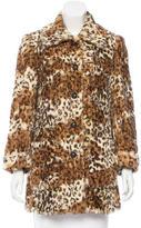Alice + Olivia Faux Fur Leopard Print Jacket