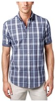 Club Room Mens Plaid Pocket Button Up Shirt L
