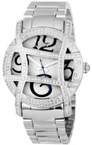 JBW Women's JB-6214-A Olympia Japanese Movement Stainless Steel Real Diamond Watch - Silver