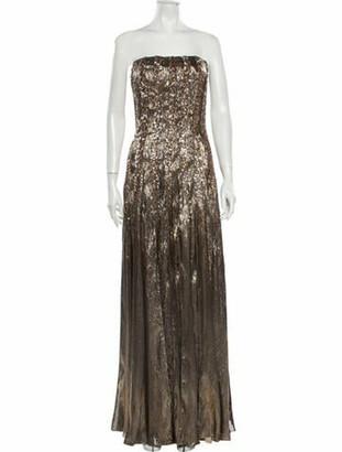 Oscar de la Renta 2020 Long Dress w/ Tags Gold