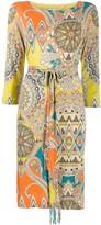 Etro paisley print midi dress