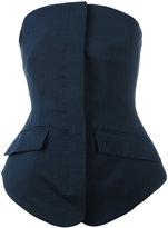 Antonio Berardi tailored bandeau top - women - Mohair/Wool - 44