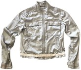 Moncler Silver Synthetic Jackets