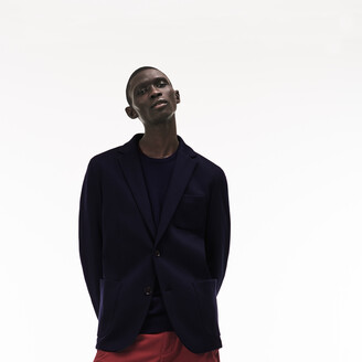 Lacoste Men's Stretch Cotton Jersey Pique Blazer