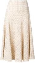 Alexander McQueen tweed skirt - women - Silk/Cotton/Acrylic/Wool - 40