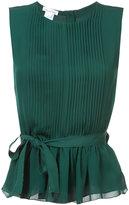 Oscar de la Renta plaid sleeveless blouse - women - Silk/Spandex/Elastane - 4