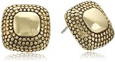 Napier Gold-Tone Button Stud Earrings