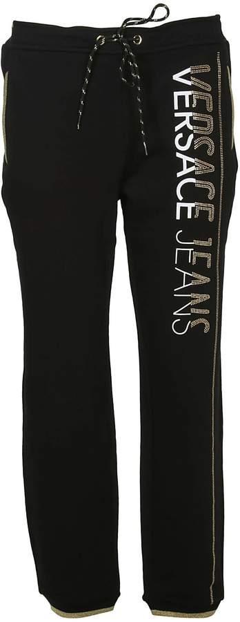 Versace Logo Embellished Track Pants