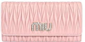 Miu Miu Matelasse Continental Fold Wallet