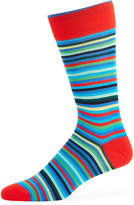 Bugatchi Men's Striped Cotton-Blend Socks