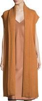DKNY Long Cashmere Shawl-Collar Vest, Copper