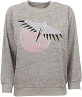 Kitsune Grey Melange Bird Sweatshirt