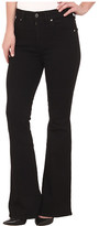7 For All Mankind Fashion Flare in Overdye Black