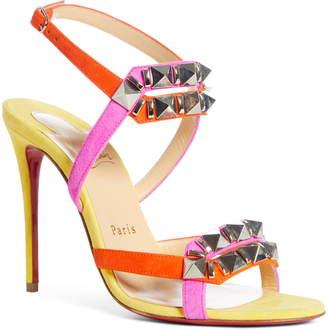 Christian Louboutin Galerietta Studded Ankle Strap Sandal