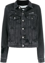 Off-White Off White loose thread denim jacket