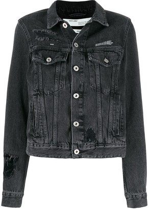 Off-White loose thread denim jacket