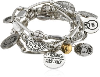 Star Wars Jewelry Episode 7 Rey Stainless Steel Charm Stretch Bracelet (SALES1SWMD)