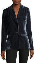 Design Lab Lord & Taylor Notch Velvet Blazer