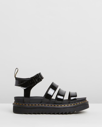 Dr. Martens Women's Black Strappy sandals - Womens Blaire Patent Sandals - Size 7 at The Iconic