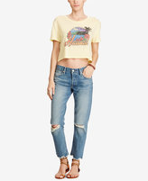 Denim & Supply Ralph Lauren Cropped Graphic-Print Cotton T-Shirt