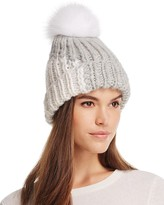 Eugenia Kim Rayna Beanie with Arctic Fox Fur Pom-Pom