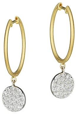 Meira T 14K Yellow Gold & Diamond Disc Drop Earrings