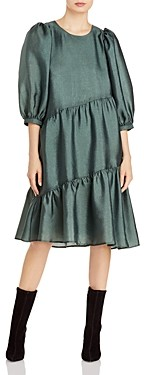 Just Female Mae Asymmetric Ruffle Dress