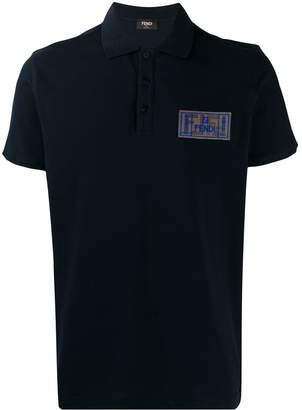 Fendi FF roma amor patch polo shirt
