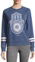 Spiritual Gangster Dreamer Hamsa Pullover Sweatshirt, Blue