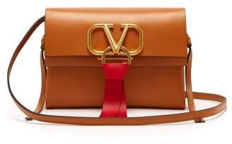 Valentino V-ring Small Leather Cross-body Bag - Womens - Tan