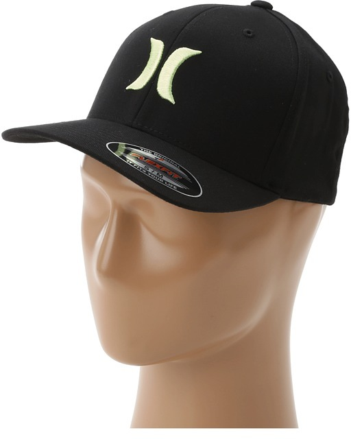 Hurley One Only Black FlexFit Hat (Bamboo Green) - Hats