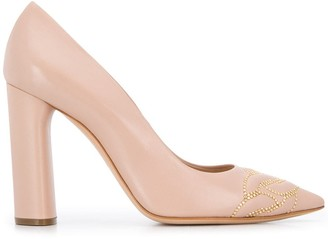 Casadei Stud-Embellished Pumps