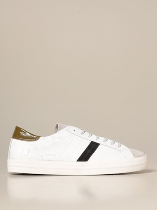 D.A.T.E Hill Low Vintage Sneakers In Leather And Suede