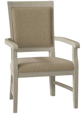Fairfield Chair Pryor Upholstered King Louis Back Arm Chair Body Fabric: 8789 Barley, Leg Colorr: Almond Buff
