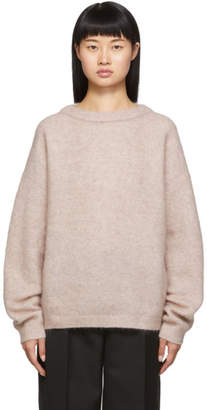 Acne Studios Pink Dramatic Mohair Sweater