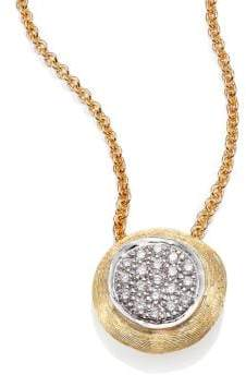 Marco Bicego Delicati Diamond, 18K Yellow& White Gold Pendant Necklace